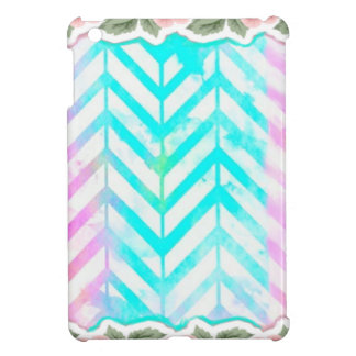 Elegant Monogram Floral pink and blue Case For The iPad Mini