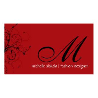 elegant; monogram flourish business cards