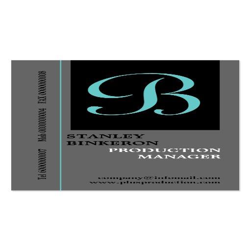 Elegant monogram grey black plain business cards business ...