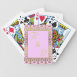 elegant monogram initialed playing cards deck gold bicycle playing cards
