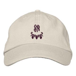 Elegant Monogram Initials Embroidered Hat