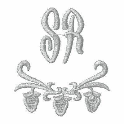 Elegant Monogram Initials Embroidered Jacket