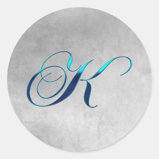 Elegant Monogram K Sticker