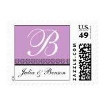 Elegant Monogram Letter B Stamp Customizable