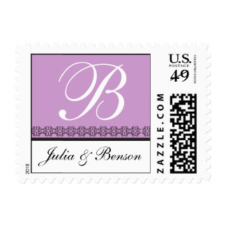 Elegant Monogram Letter B Stamp Customizable