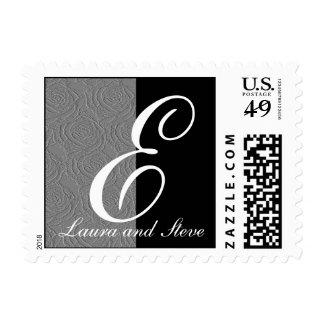 Elegant Monogram Letter E Stamp