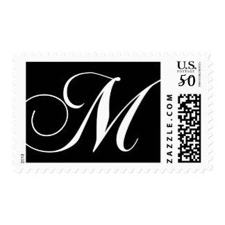 Elegant Monogram M Postage Stamps
