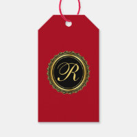 Elegant Monogram Medallion Gift Tags