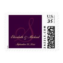 Elegant Monogram Names Wedding Save the Date Stamp
