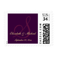 Elegant Monogram Names Wedding Save the Date Stamp