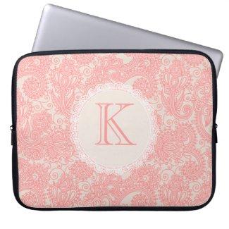 Elegant Monogram Paisley Designer Laptop Bag electronicsbag