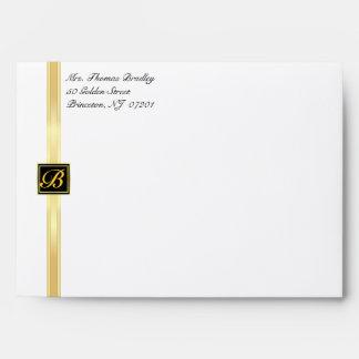 Elegant Monogram Party Invitation Envelopes