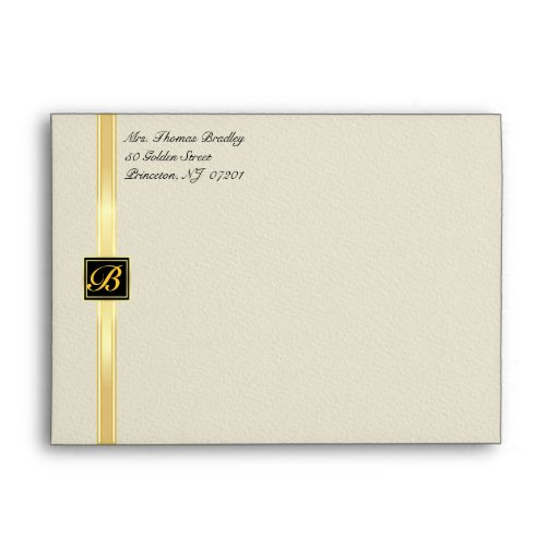 Elegant Monogram Party Invitation Envelopes
