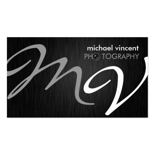 Elegant Monogram Photography Business Card