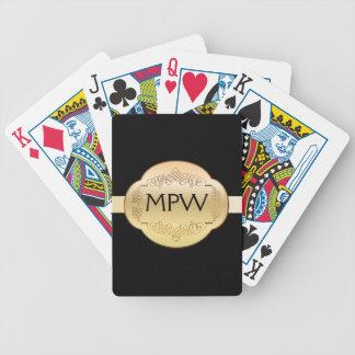 Elegant Monogram - Playing Cards - SRF