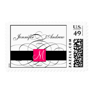 Elegant Monogram Postage Stamps for Weddings