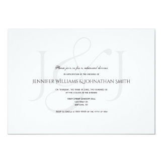 Elegant monogram rehearsal dinner invitations