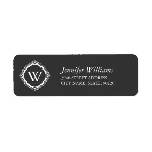 Elegant Monogram Return Address Labels