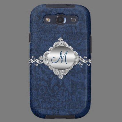 Elegant Monogram Samsung Galaxy S3 Phone Case Samsung Galaxy SIII Cover