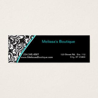 Elegant Monogram teal price tag small