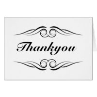 Elegant monogram thank you card