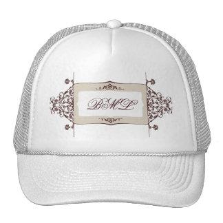 elegant monogram trucker hat