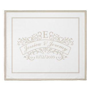 Elegant Monogram Wedding Duvet Cover King Size at Zazzle