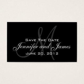 Elegant Monogram Wedding Reminder Website Card