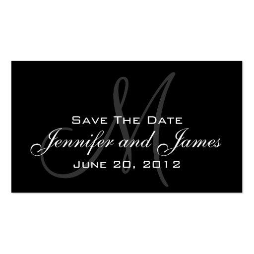 Elegant Monogram Wedding Reminder Website Card Business Card