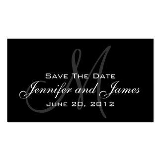 Elegant Monogram Wedding Reminder Website Card Double-Sided Standard Business Cards (Pack Of 100)