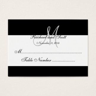 Elegant Monogram Wedding Seating Cards
