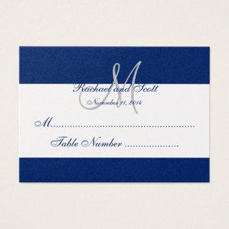 Elegant Monogram Wedding Seating Cards Platinum