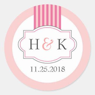 Elegant Monogram Wedding Sticker