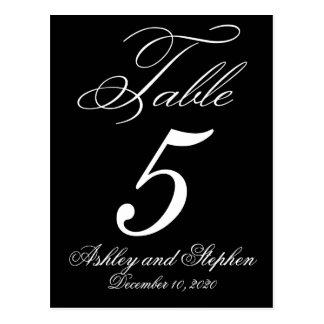 Elegant Monogram Wedding Table Number Cards