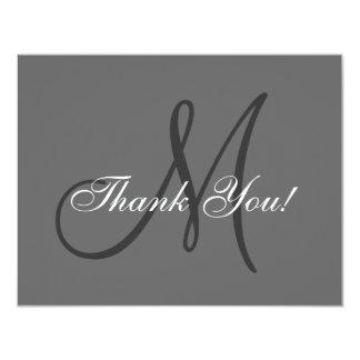 Elegant Monogram | Wedding Thank You Card