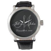 Elegant Monogram Wedding Wrist Watch