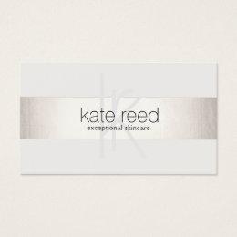 Nail salon business cards 3100 nail salon business card templates elegant monogram white modern faux silver striped business card colourmoves