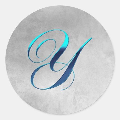 Elegant Monogram Y Sticker