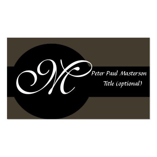 Elegant Monogrammed Classy Business Card