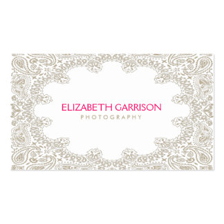 Elegant Moroccan Paisley Pattern in Tan Double-Sided Standard Business Cards (Pack Of 100)