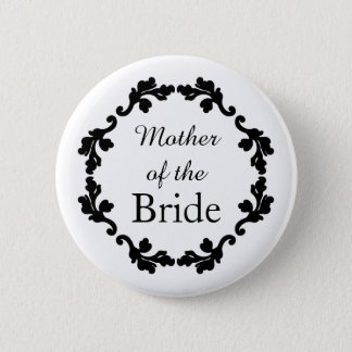 Elegant mother of the bride button
