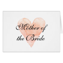 Elegant Mother of the bride greeting card