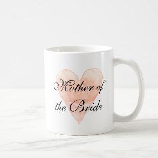 Elegant mother of the bride wedding coffee mug