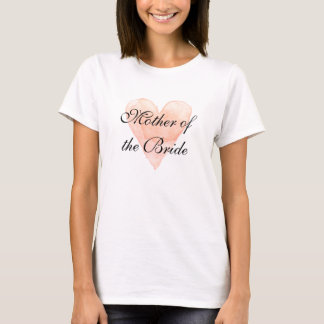 Elegant mother of the bride wedding party t shirt
