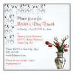 "Elegant Mother's Day Brunch Custom Invitations 5.25"" Square Invitation Card"