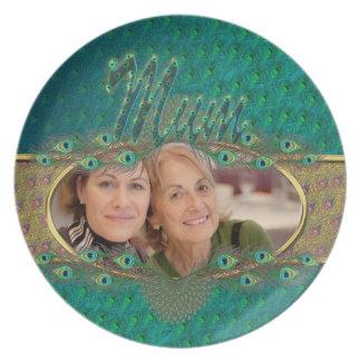 Elegant Mother's day decorative photo plates