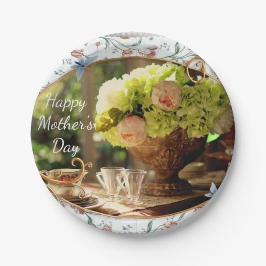 Elegant Mother's Day Paper Plate