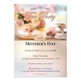 Elegant Mothers Day Tea Party Invitation