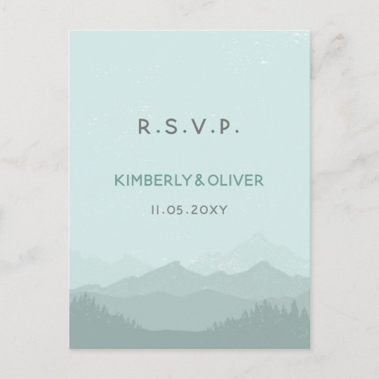 Elegant Mountain Wedding Invitations Rsvp Postcard