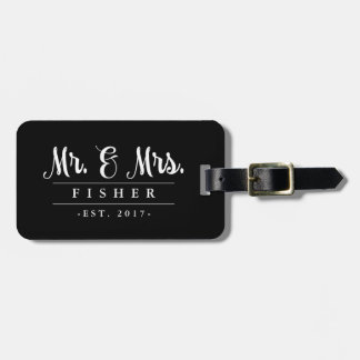 Elegant Mr. and Mrs. Photo Luggage Tag